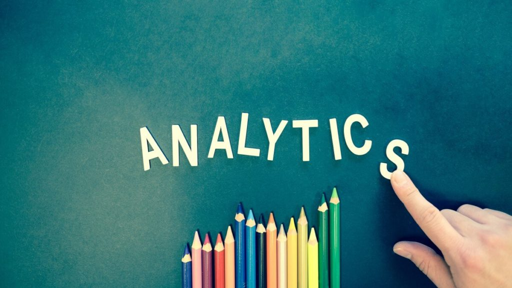 colorful pencils with the word analytics